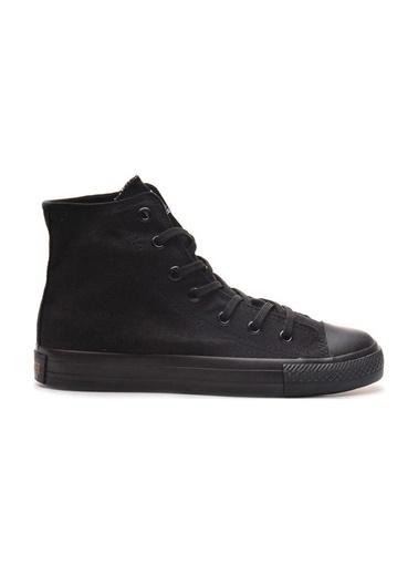 Bulldozer 211402 Erkek Uzun  Keten  Ayakkabı Siyah